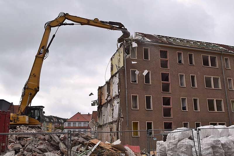 Abbruch eines Mietshauses